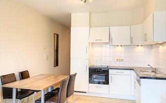 Gezellige studio te koop in een recent gebouw, gelegen op de Kruidtuinlaan in het centrum van Brusse...