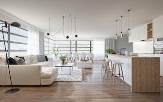 Appartement in loft-stijl, gelegen op de eerste verdieping langs de Blankenbergse Steenweg, op een z...