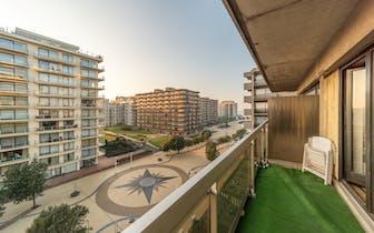 Studio te koop op toplocatie in De Panne (Leopold I Esplanade, residentie 't Zand III) inclusief pri...
