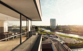 Het Liebaertshof omvat de residenties Marie en Julien en telt in totaal 42 high-end afgewerkte appar...