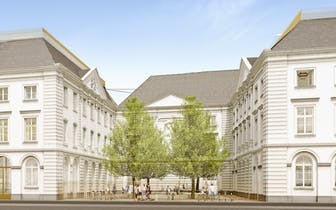 Nieuwbouwproject Academie is gelegen in het centrum van Gent, tussen de Academiestraat, Brandweerstr...